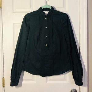 Diane Von Furstenberg Black Button Up Shirt